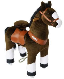 Pony Cycle Riding Chocolate Brown with White Hoof Small Hors