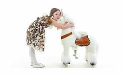 Smart Gear Pony Cycle White Unicorn Ride on Toy:  2 Sizes: