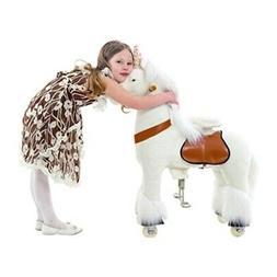 Smart Gear Pony Cycle White Unicorn Ride-On Toy with Bonus W