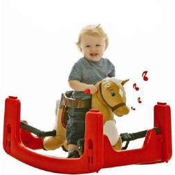 Pony Rider Toy Rocking Spring Horse Ride Ons Rocker Safety S