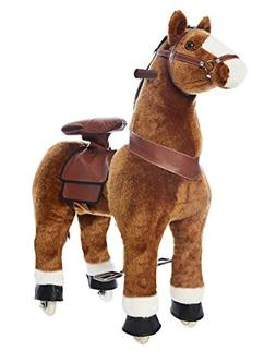 Pony Rider - Light Brown with White Hoof