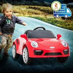 Porsche Kids Ride Car 6v Electric Vehicles Suspension, Music