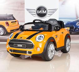 12V Kids Power Wheels Car MINI Cooper with RC Remote Control