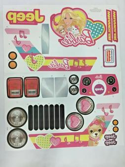 Power Wheels CBF64 Barbie Jeep Decal Sheet CBF64-0310A