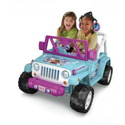 Power Wheels Disney Frozen Jeep Wrangler 12V Battery-Powered
