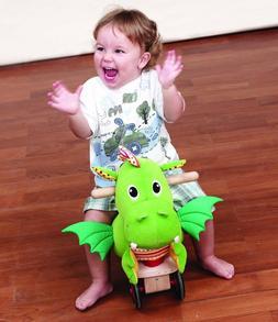 Wonderworld Puffy Dragon Sit & Ride Scooter - Toddler Toy -