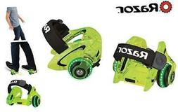 Razor Jetts DLX Heel Wheels Neon Green Frustration-Free Pack