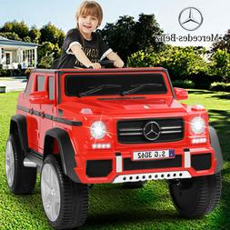 Red 12V Electric Mercedes Benz Kids Ride On Car Toys USB MP3