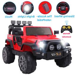 Red 12V Kids Ride On Car Toys Jeep Battery 3 Speed Music Rem