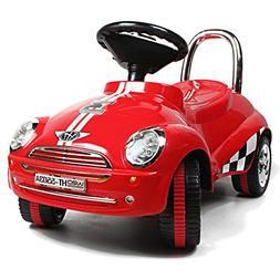 red ride car toy gliding