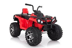 Wonderlanes 12V Ride Adventure ATV in Red, Battery Powered T