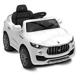 Best Ride On Cars Maserati 6V Ride On, White, 39 x 21 x 14