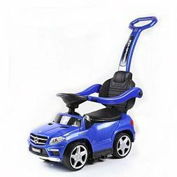 Best Ride On Cars 4 in1 Mercedes Push Car, Blue