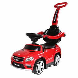 Best Ride On Cars 4 in1 Mercedes Push Car, Red