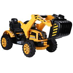 6V Battery Powered Kids Ride On Car Electric Excavator Digge