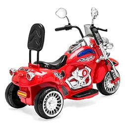12V Kids Ride-On Motorcycle Chopper w/ Built-In Music, MP3 P