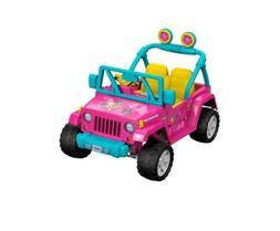POWER WHEELS Ride On Barbie Jeep Wrangler - BRAND NEW