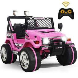 Ride On Car Toys Kids Jeep 12V Electric Wheels Music LED Lig