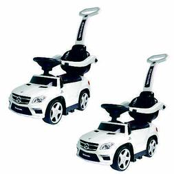 Ride On Cars Baby Mercedes Push Car Stroller w/ LED Lights,