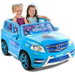 Disney Ride On Frozen Girls Jeep Mercedes 12V Toy Battery Po