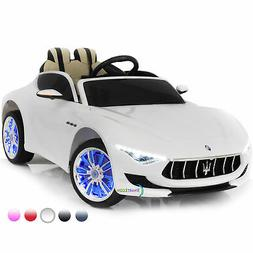 Ride On Car 12V Electric Toy Maserati Remote Control Music M