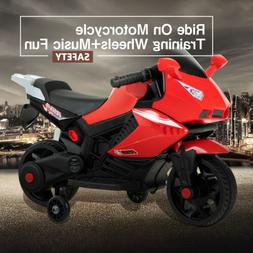 Ride On Motorcycle 6V Electric Battery Powered Motorbike Wit