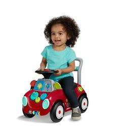 Ride-On Toy and Push Walker Multi-Color Busy Buggy Mini Boys
