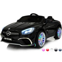 Ride On Toys 12V Battery Car Mercedes Remote MP4 Screen LED