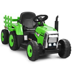Ride On Tractor With Trailer Electric Car Toys For 3 4 5 Yea