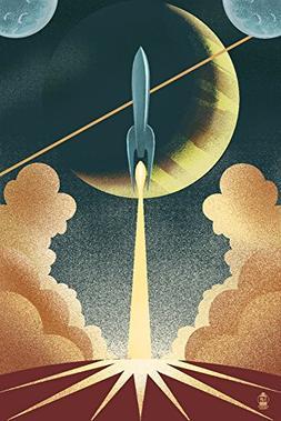 Rocket - Lithograph