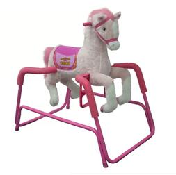 Rockin' Rider Lacey Deluxe Talking Plush Pink Spring Horse,