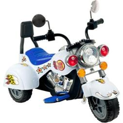 Rockin' Rollers White Knight 3-Wheel Motorcycle 6-Volt Batte