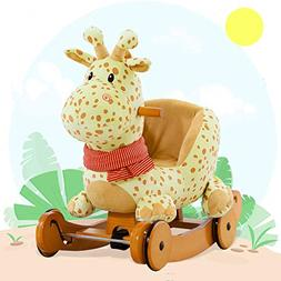 Labebe Child Rocking Horse Plush, Fawn Rocking Horse Stuffed