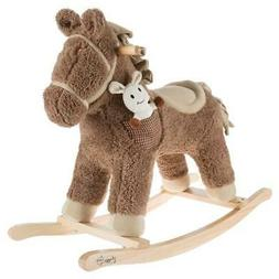 Rocking Horse Toy Ride On Stuffed Animal Rocker Kids Gift Po