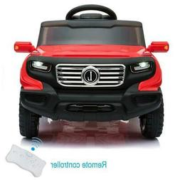 Safety Kids Ride on Car Toys Electric Power 4 Wheel MP3 Ligh