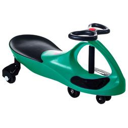 TMG Self Propelled Green Wiggle Ride on Car - Includes Bonus