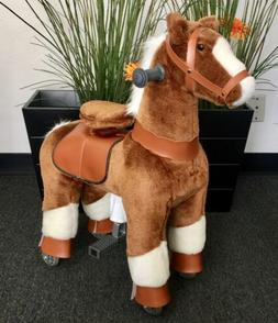 SMALL Giddy Up Ride Horse/Pony Ride On BROWN/WHITE Ages 2-5