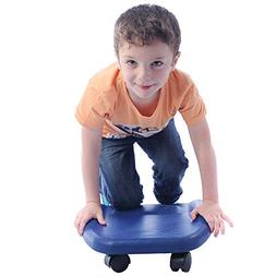 Fun and Function Soft Blue Kneeling and Tummy Scooter – Du