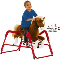Kids Spring Horse Rocking Talking Animated Pony Toddler Toy