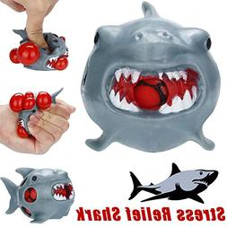 LtrottedJ Stress Relief Toy, Stress Relief Shark Rubber Mesh