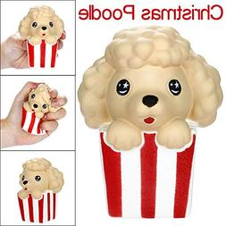 LtrottedJ Stress Relief Toy, Squishies Cute Christmas Poodle