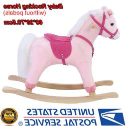 Toddler Plush Rocking Horse Animal Ride On Seat Play Toys Ki