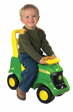 Toddler Ride On Tractor John Deere Green Kids Scooter Indoor