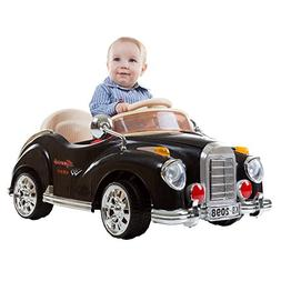 Ride On Toy Car, Battery Powered Classic Car Coupe With Remo