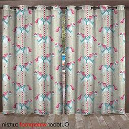 BlountDecor Toy Horse Grommet Top Curtain Merry Go Round Amu