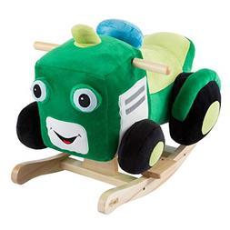 Happy Trails Tractor Rocker Toy-Kids Ride On Soft Fabric Cov