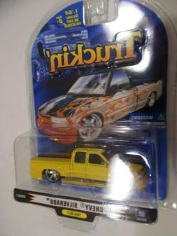Badd Ride Truckin Chevy Silverado yellow/black series 7 1/64