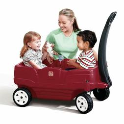 Two Seater Wagon Toddler Children Ride Toy Carry Transport S