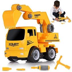 Ultimate Take-A-Part Construction Truck Toy & Friction Power