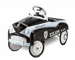 Kids Pedal Car Vintage Police Cruiser Steel Ride On Patrol T